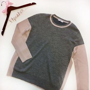 Vince Colorblock Wool Blend Sweater
